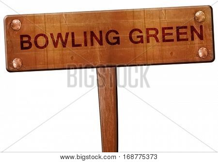 bowling green road sign, 3D rendering