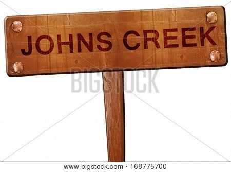 johns creek road sign, 3D rendering
