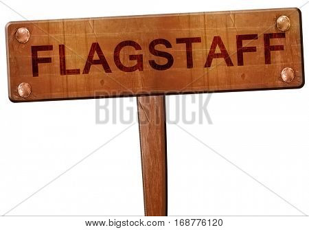 flagstaff road sign, 3D rendering