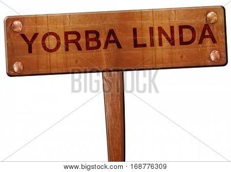 yorba linda road sign, 3D rendering