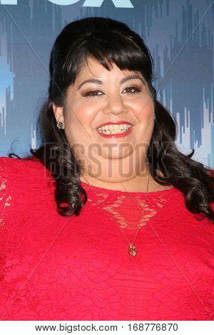 LOS ANGELES - JAN 11:  Carla Jimenez at the FOX TV TCA Winter 2017 All-Star Party at Langham Hotel on January 11, 2017 in Pasadena, CA