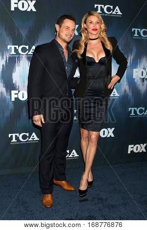 LOS ANGELES - JAN 11:  Dean Sheremet, Brandi Glanville at the FOX TV TCA Winter 2017 All-Star Party at Langham Hotel on January 11, 2017 in Pasadena, CA