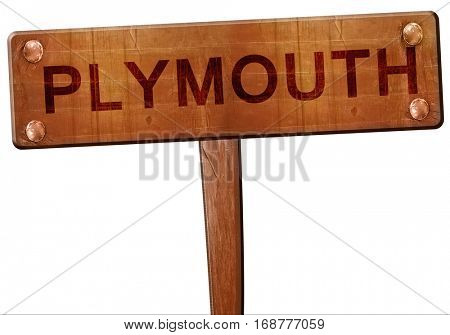 plymouth road sign, 3D rendering