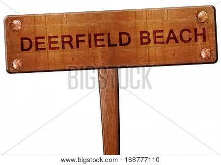 deerfield beach road sign, 3D rendering