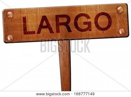 largo road sign, 3D rendering