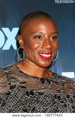 LOS ANGELES - JAN 11:  Aisha Hinds at the FOX TV TCA Winter 2017 All-Star Party at Langham Hotel on January 11, 2017 in Pasadena, CA