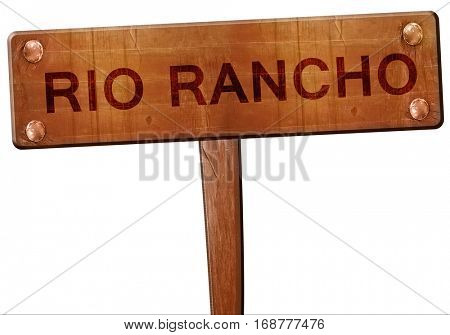 rio rancho road sign, 3D rendering