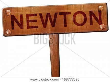 newton road sign, 3D rendering