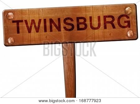 twinsburg road sign, 3D rendering