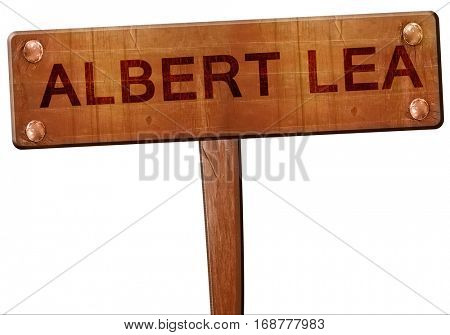 albert lea road sign, 3D rendering