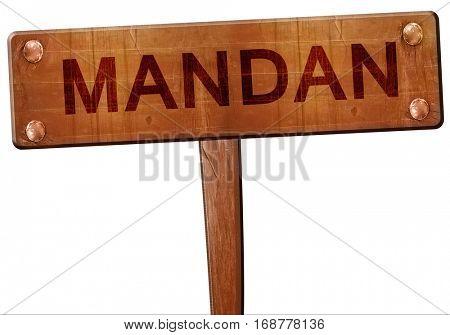 mandan road sign, 3D rendering