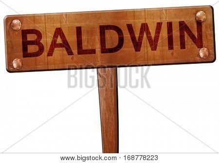 baldwin road sign, 3D rendering