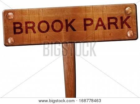 brook park road sign, 3D rendering