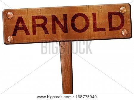 arnold road sign, 3D rendering