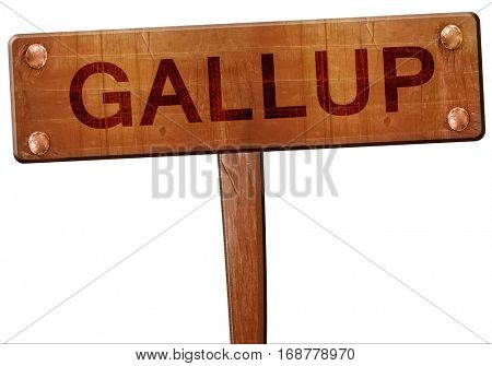 gallup road sign, 3D rendering