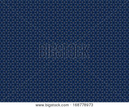 Hexagons Within Hexagons Blue And Gray Pattern