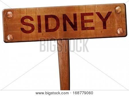 sidney road sign, 3D rendering