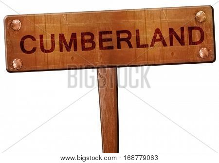cumberland road sign, 3D rendering