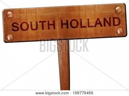 south holland road sign, 3D rendering