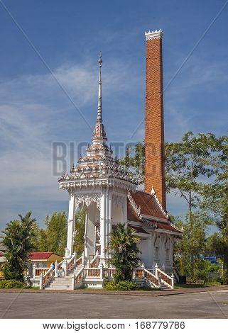 Thailand Krabi Krabi town. Temple Wat Kaew Korawaram. Crematorium in the territory of the temple.