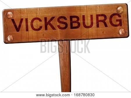 vicksburg road sign, 3D rendering