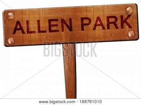 allen park road sign, 3D rendering