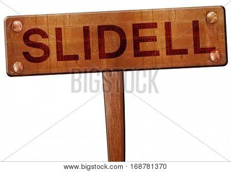 slidell road sign, 3D rendering