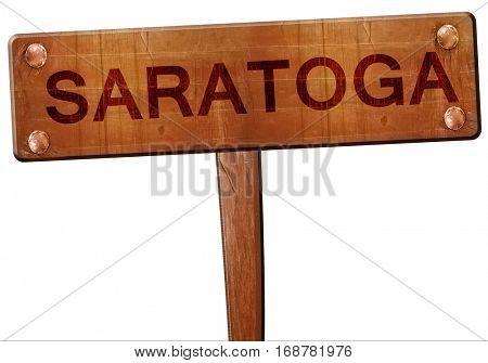saratoga road sign, 3D rendering