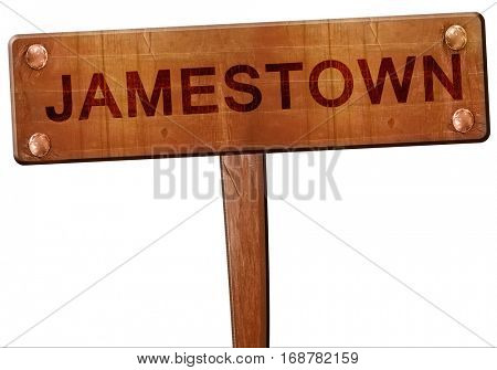 jamestown road sign, 3D rendering