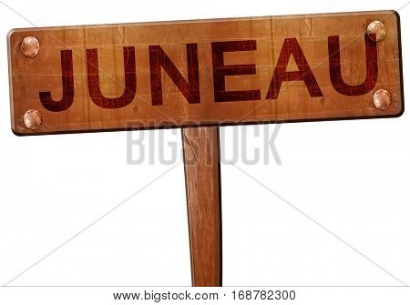 juneau road sign, 3D rendering