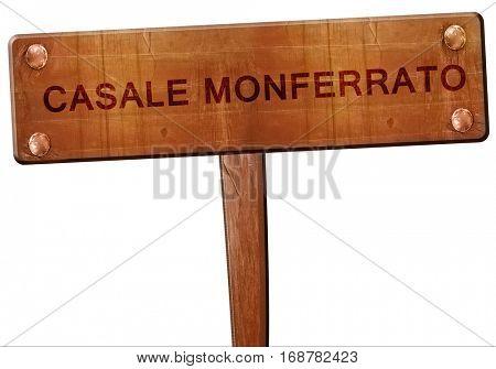 casale monferrato road sign, 3D rendering
