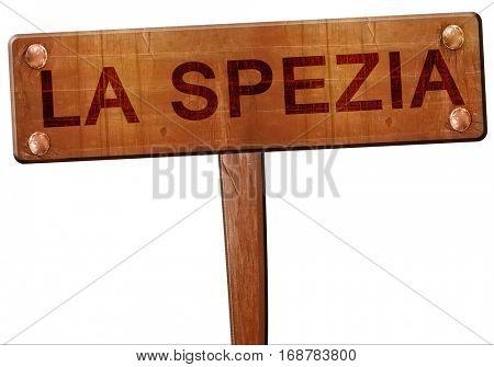 La spezia road sign, 3D rendering