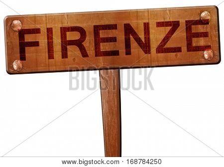 Firenze road sign, 3D rendering