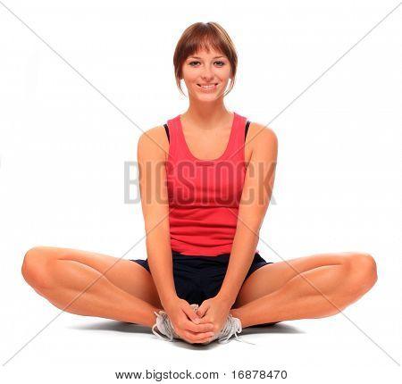 Schuss eine sportliche junge Frau. Aktiven Lebensstil.