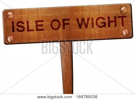 Isle of wight road sign, 3D rendering