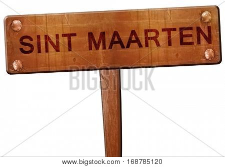 Sint maarten road sign, 3D rendering