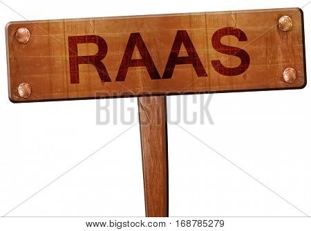 Raas road sign, 3D rendering
