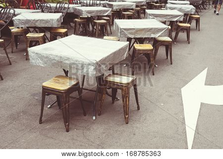 Empty Tables Street