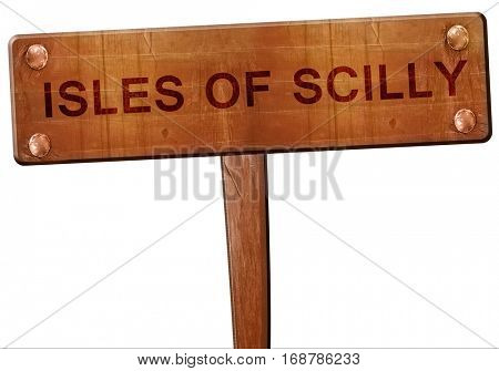 Isles of scilly road sign, 3D rendering
