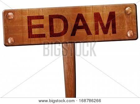 Edam road sign, 3D rendering