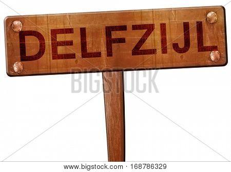 Delfzijl road sign, 3D rendering