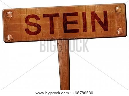 Stein road sign, 3D rendering