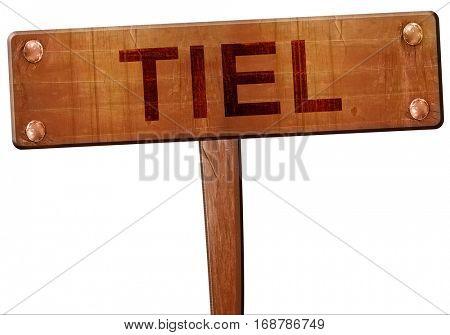 Tiel road sign, 3D rendering