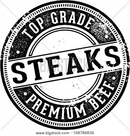 Vintage Style Top Grade Steaks Sign