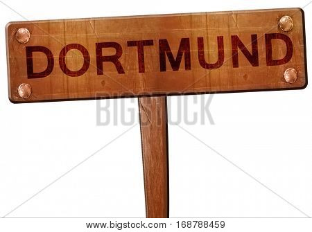 Dortmund road sign, 3D rendering