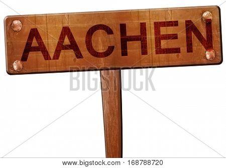 Aachen road sign, 3D rendering