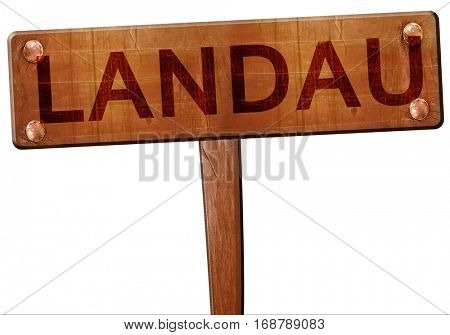 Landau road sign, 3D rendering