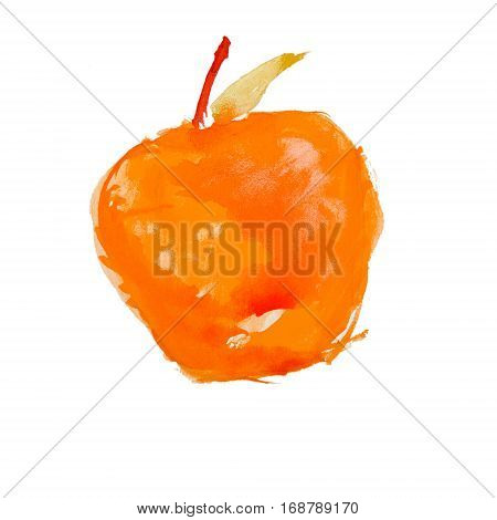 watercolor apple on a white background isolated