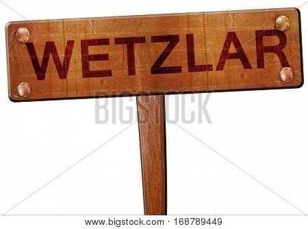 Wetzlar road sign, 3D rendering