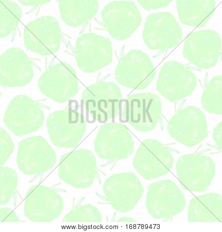 watercolor apples on a white background isolated
